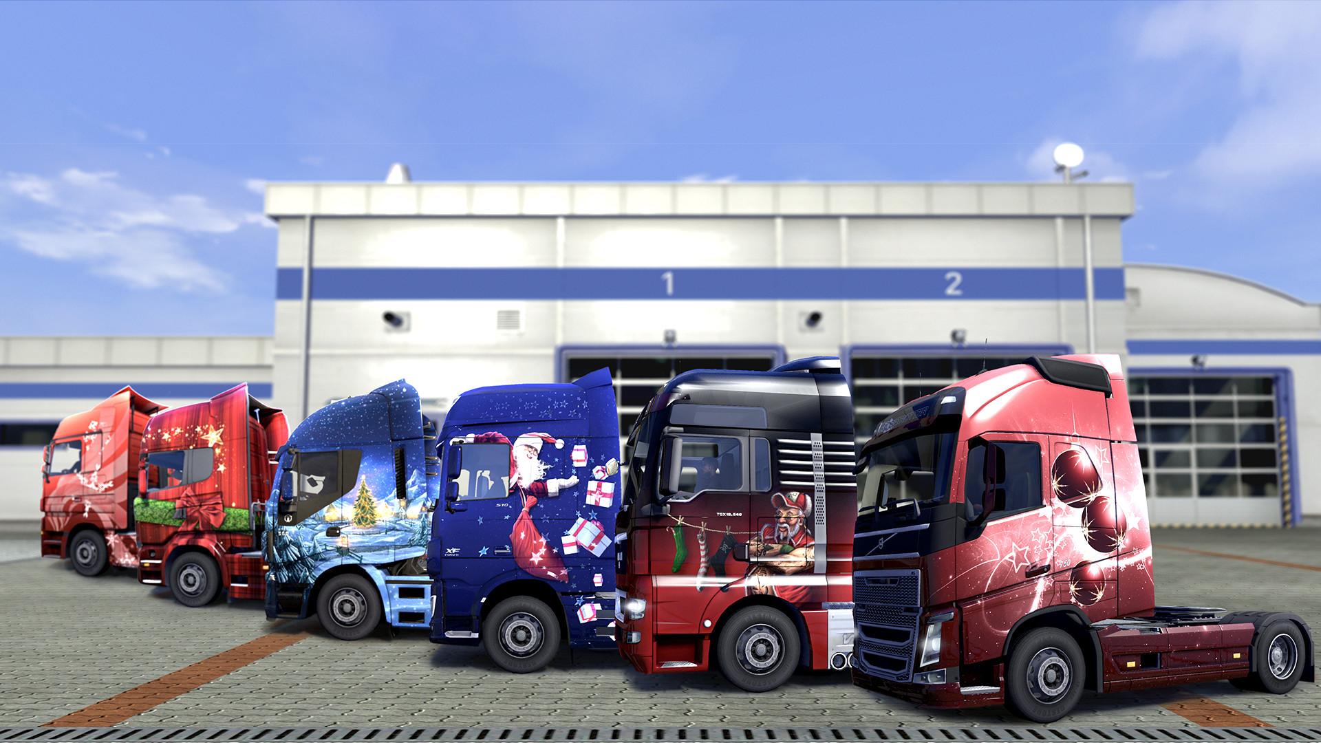 Euro Truck Simulator 2 - Christmas Paint Jobs Pack screenshot