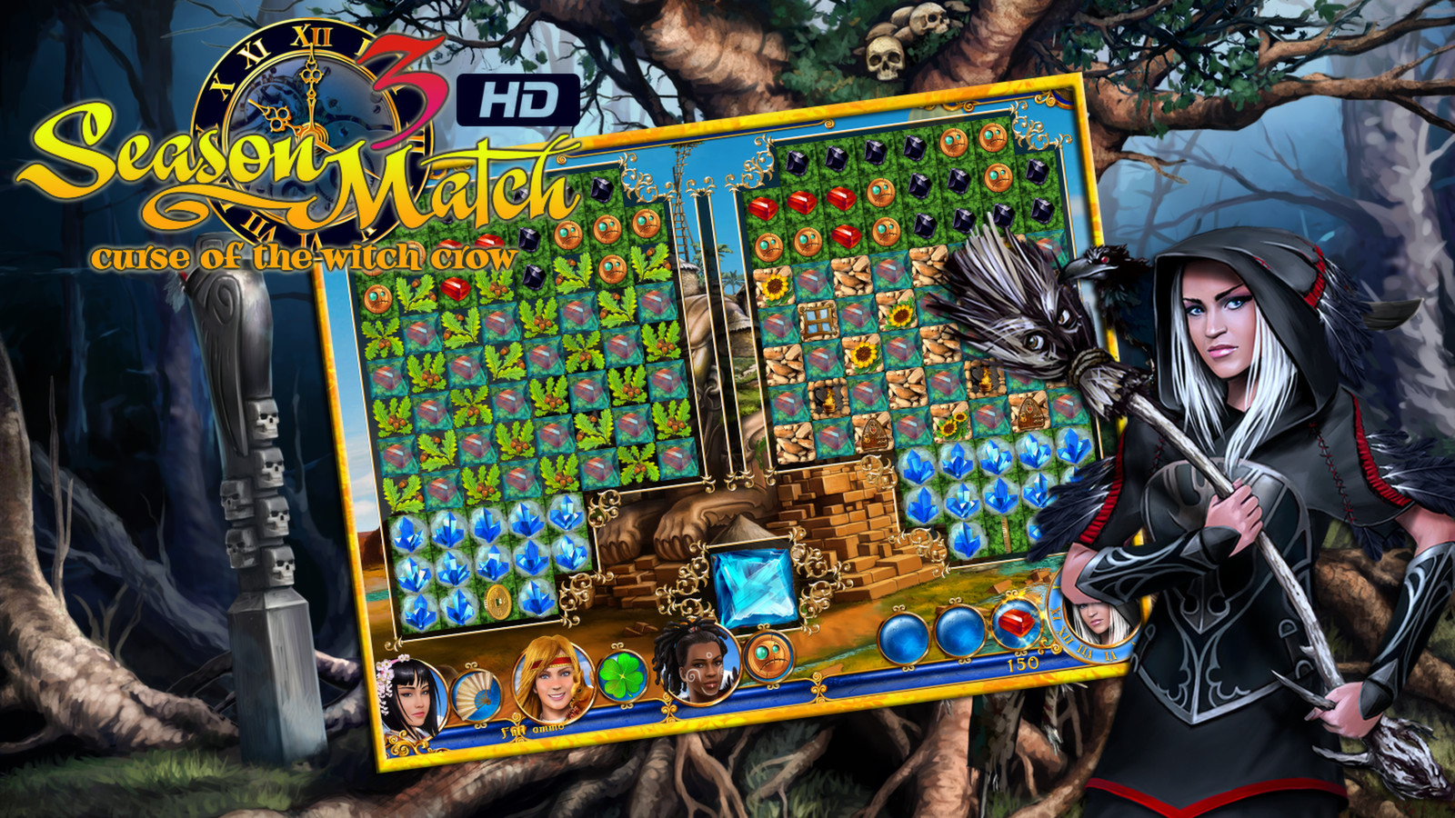Season Match 3 - Curse of the Witch Crow screenshot