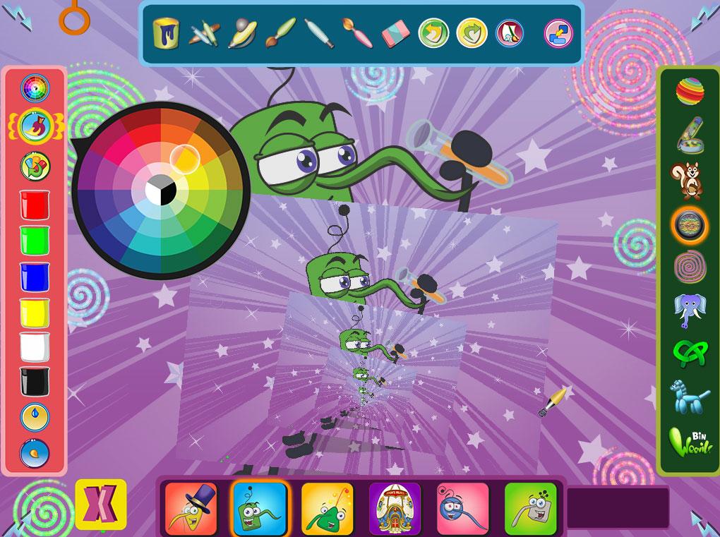 Bin Weevils Arty Arcade screenshot