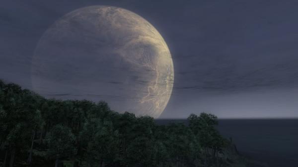Таинственная планета-спутник над островом Primal Eden