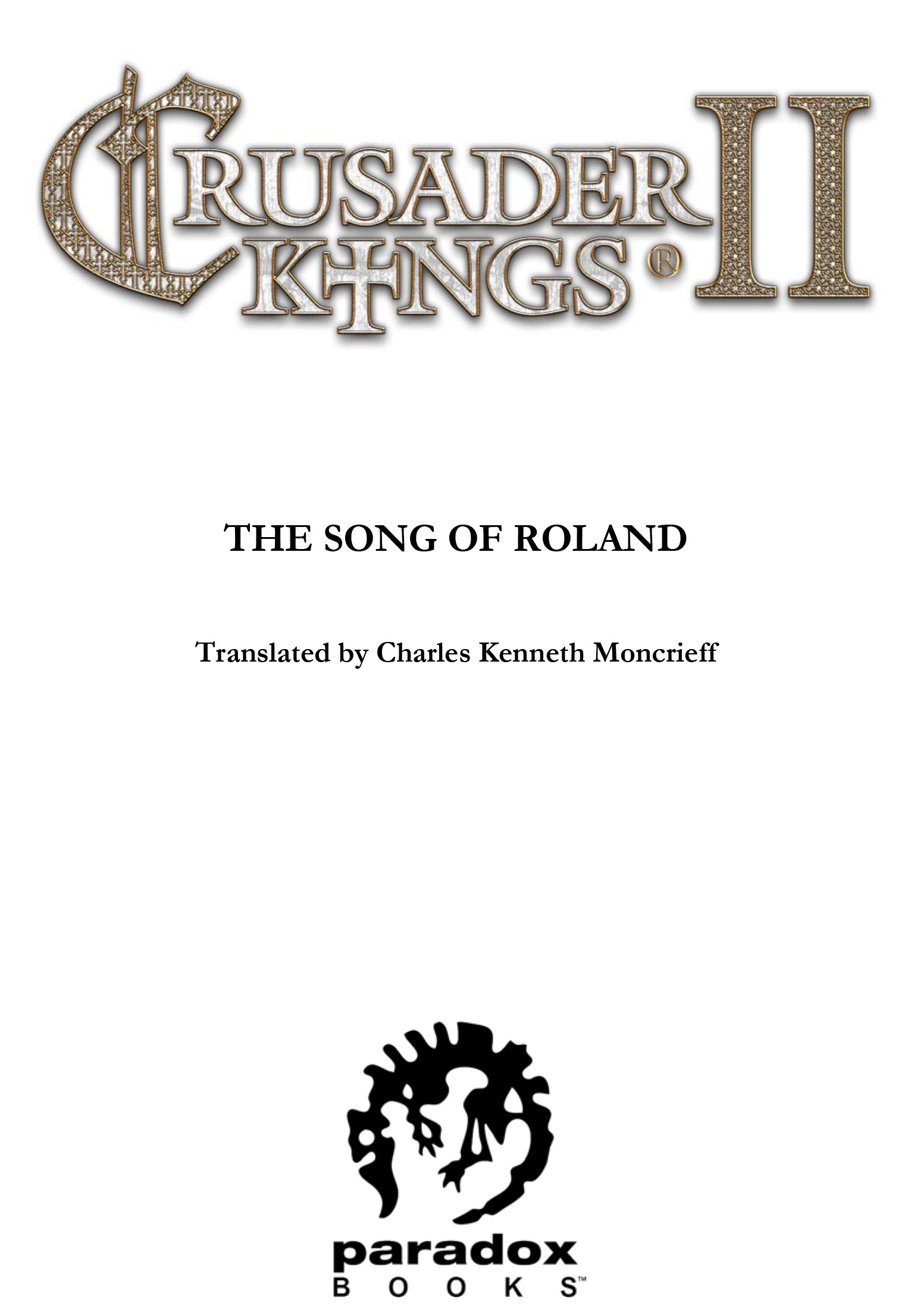 E-book - Crusader Kings II: The Song of Roland screenshot