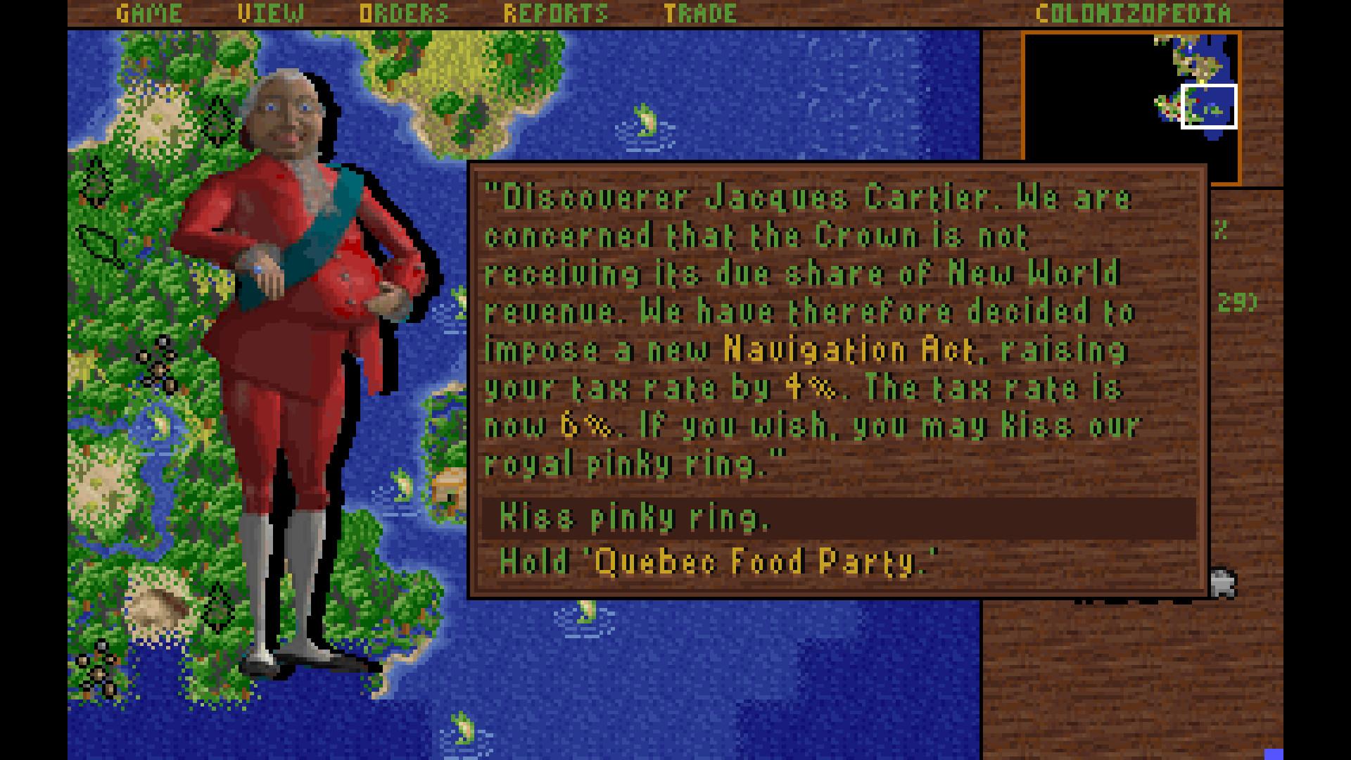 Sid Meier's Colonization (Classic) screenshot