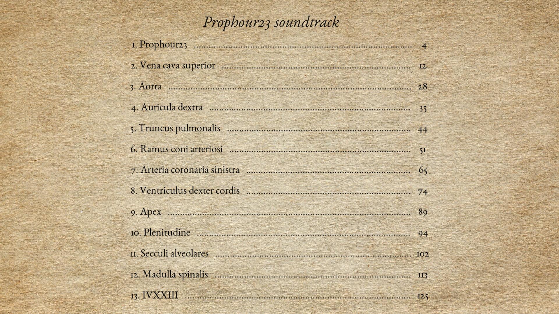 Prophour23 - Soundtrack screenshot