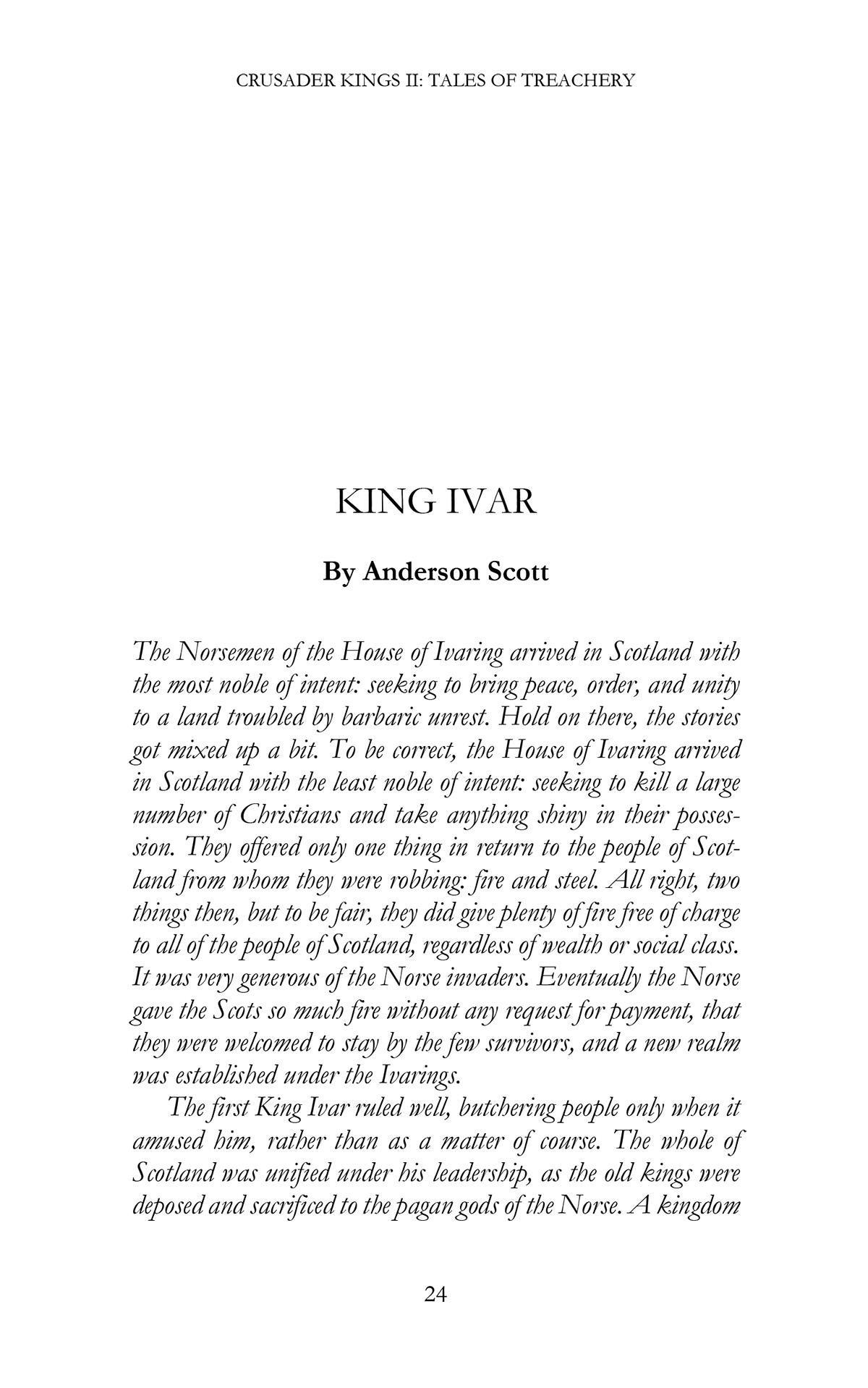 E-Book Crusader Kings II: Tales of Treachery screenshot