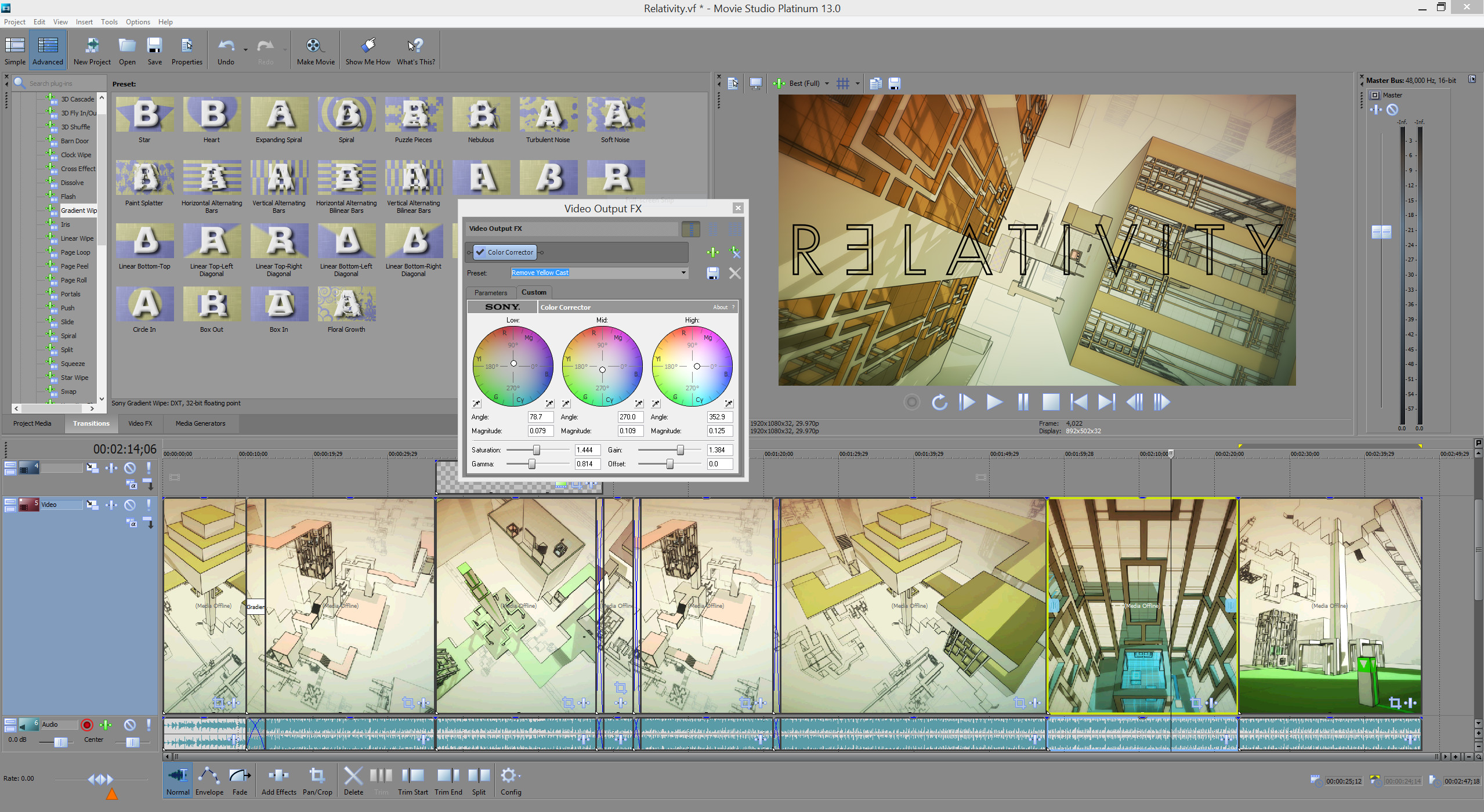 VEGAS Movie Studio 13 Platinum - Steam Powered screenshot