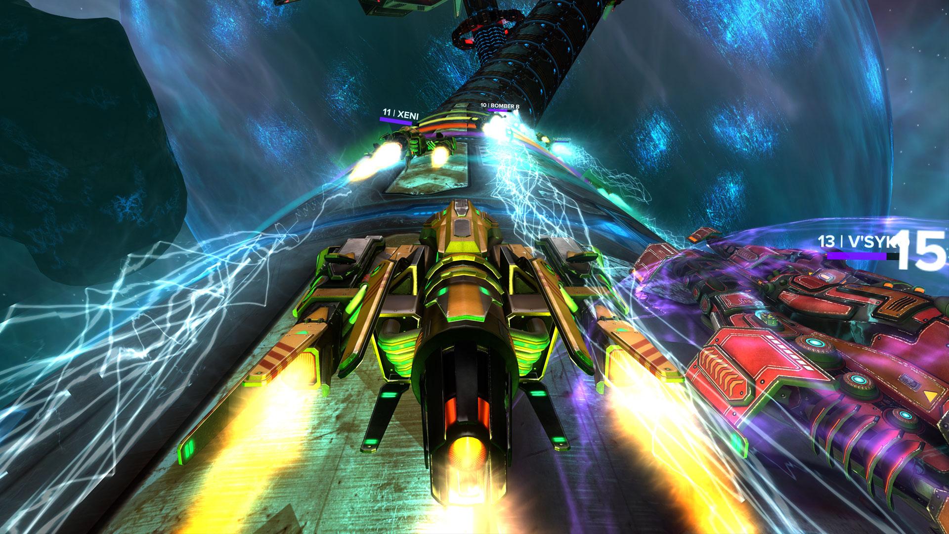 Racing screenshot in space