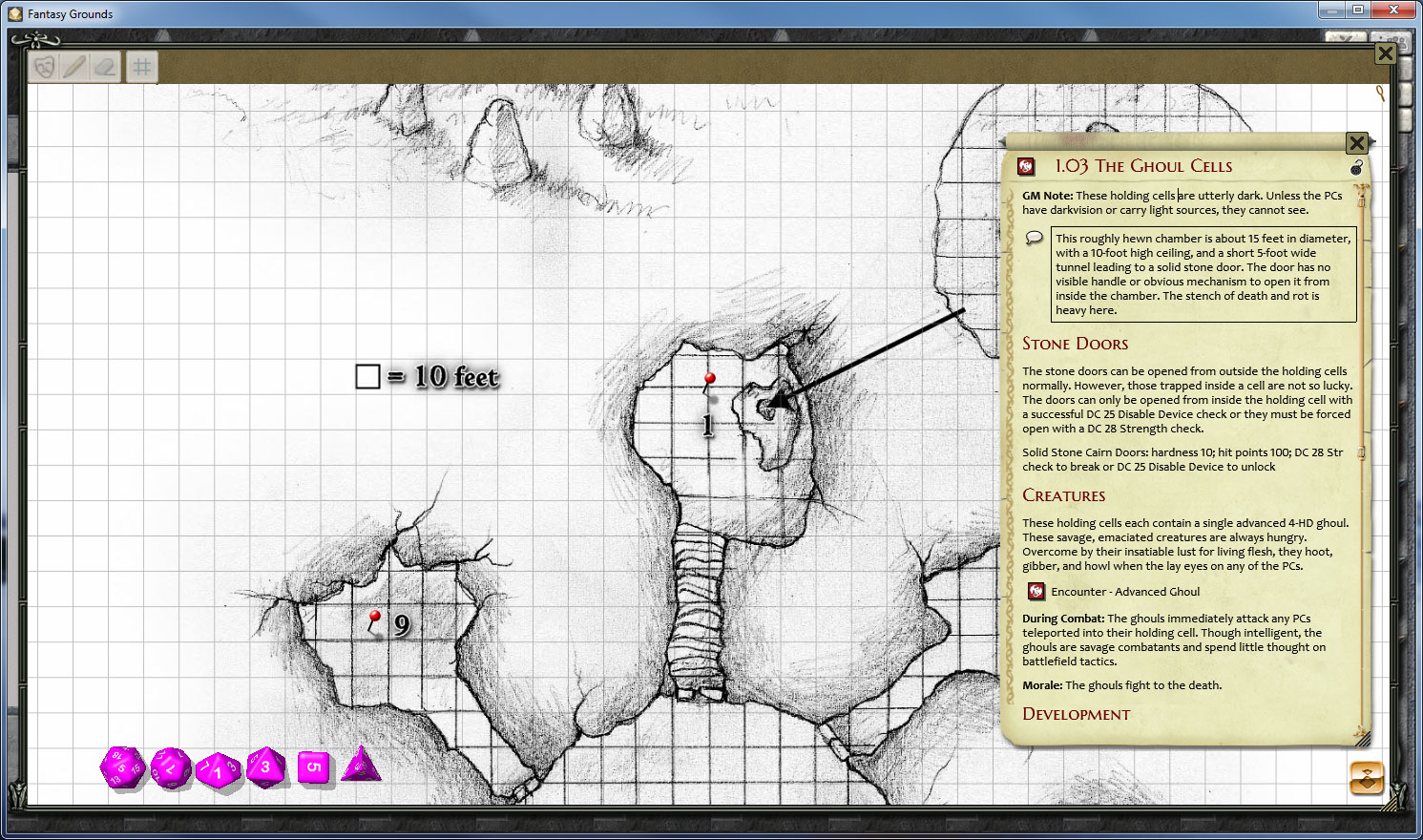Fantasy Grounds - PFRPG The Tomb of Caragthax screenshot