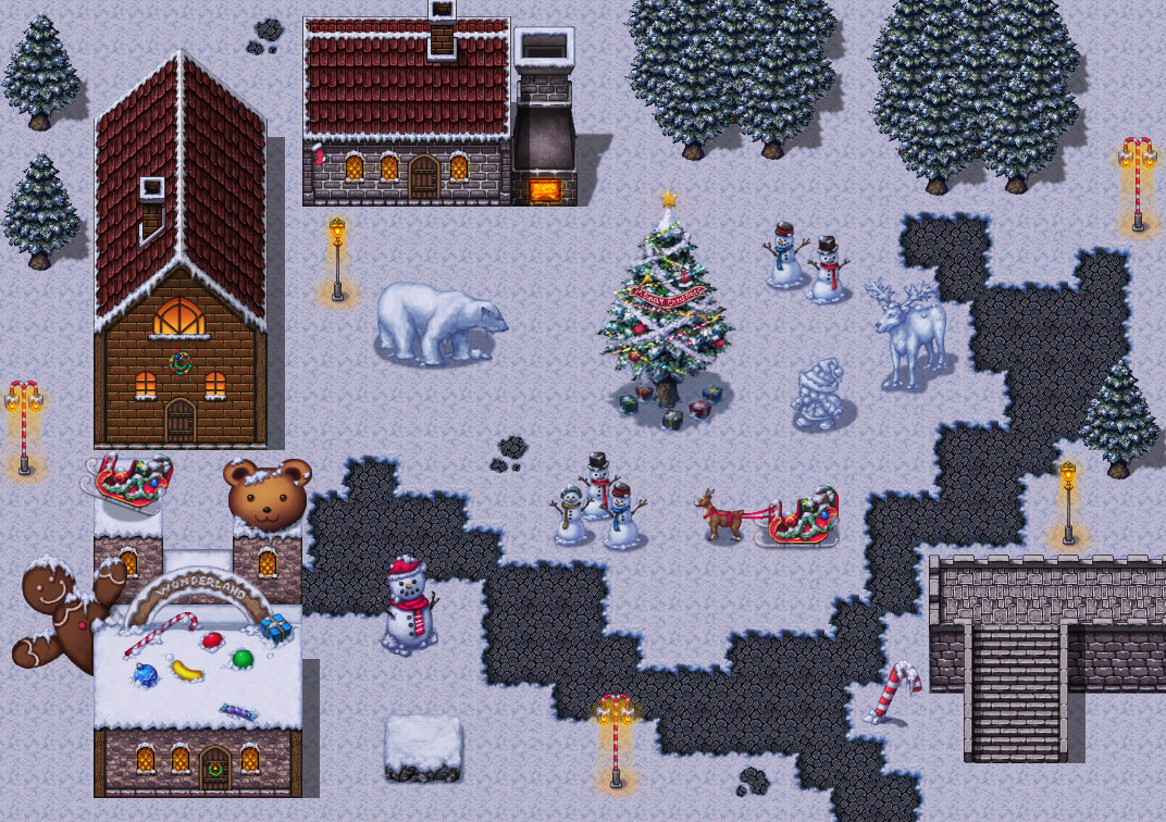 RPG Maker VX Ace - Winter Wonderland Tiles screenshot