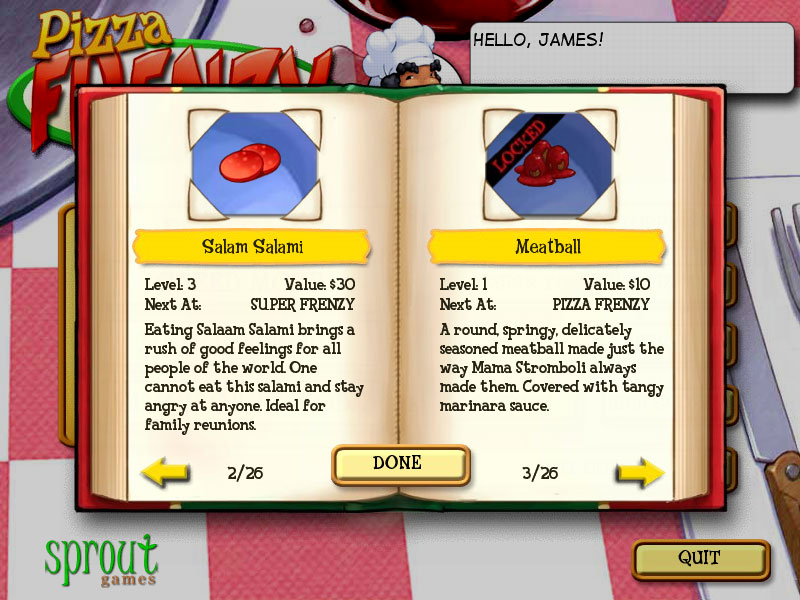 Pizza Frenzy Deluxe screenshot