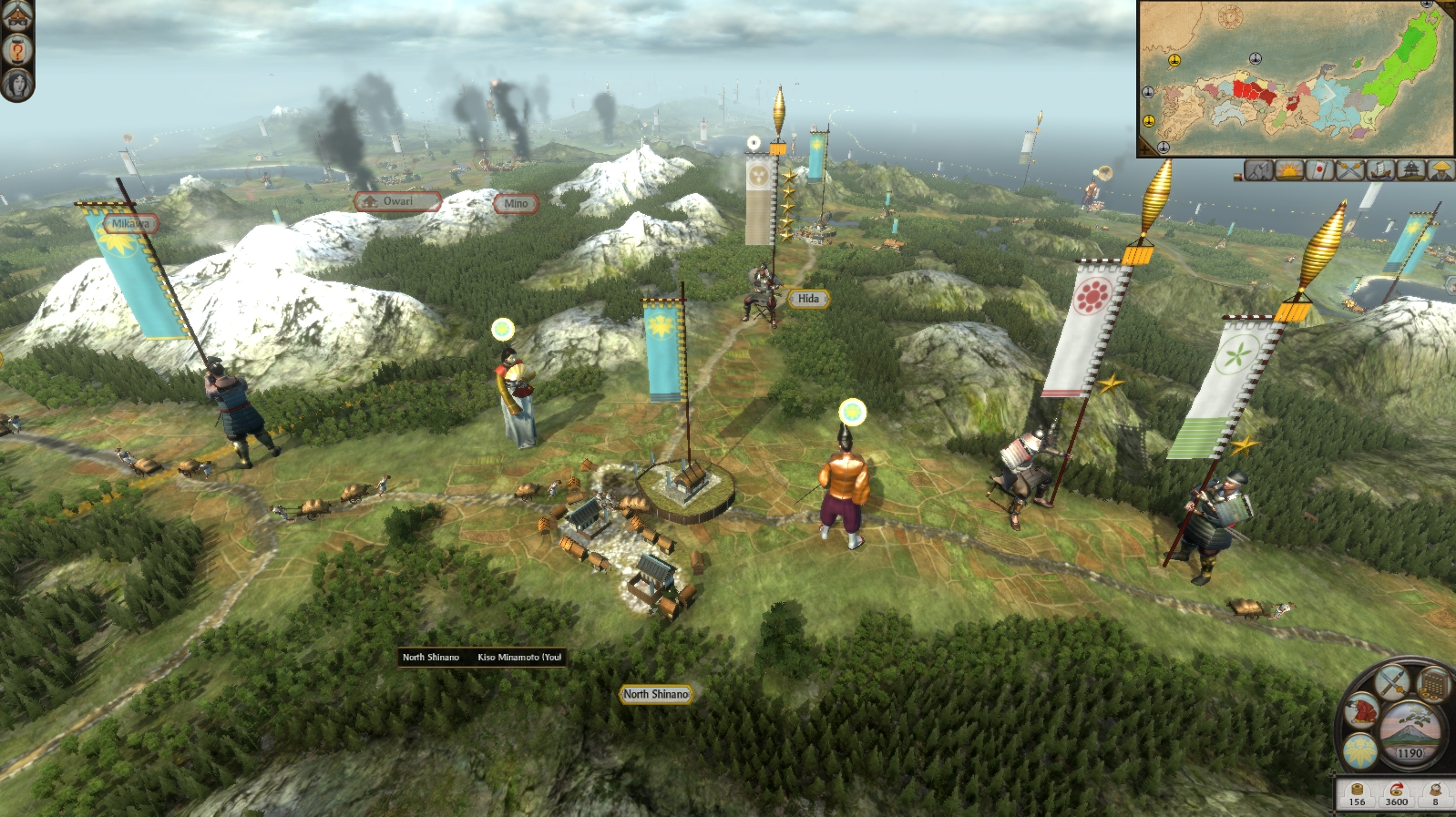 Total War: SHOGUN 2 - Rise of the Samurai Campaign screenshot