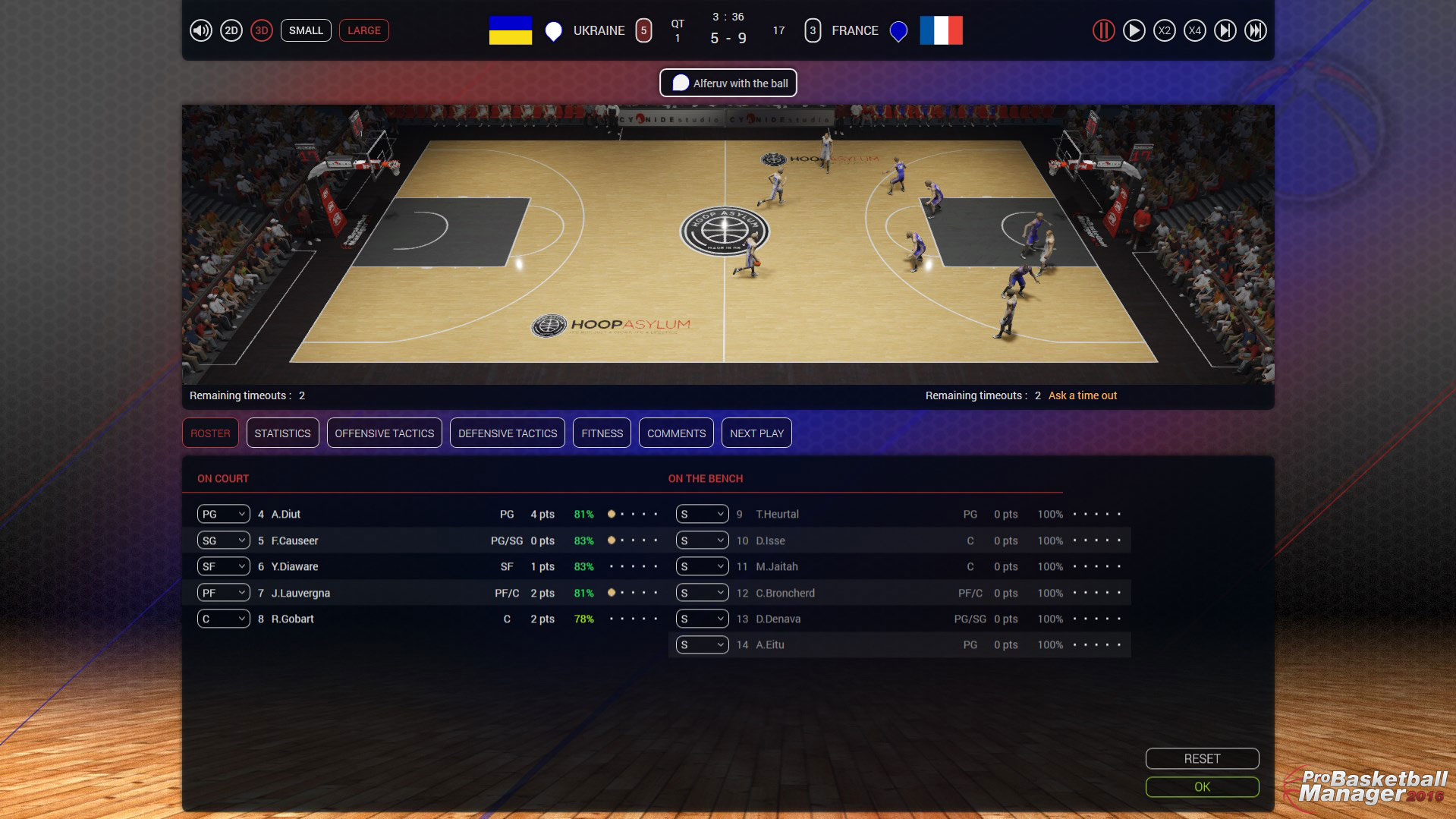 Pro Basketball Manager 2016 (RELOADED) [Лицензия+Таблетка]
