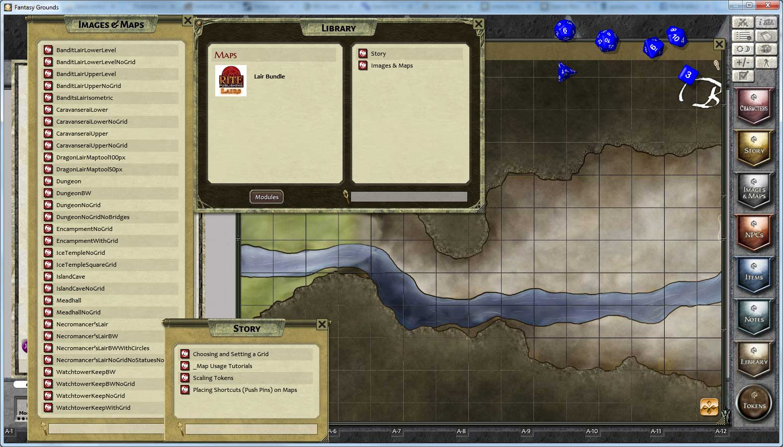 Fantasy Grounds - Rite Publishing Fantastic Maps - Lairs Pack screenshot