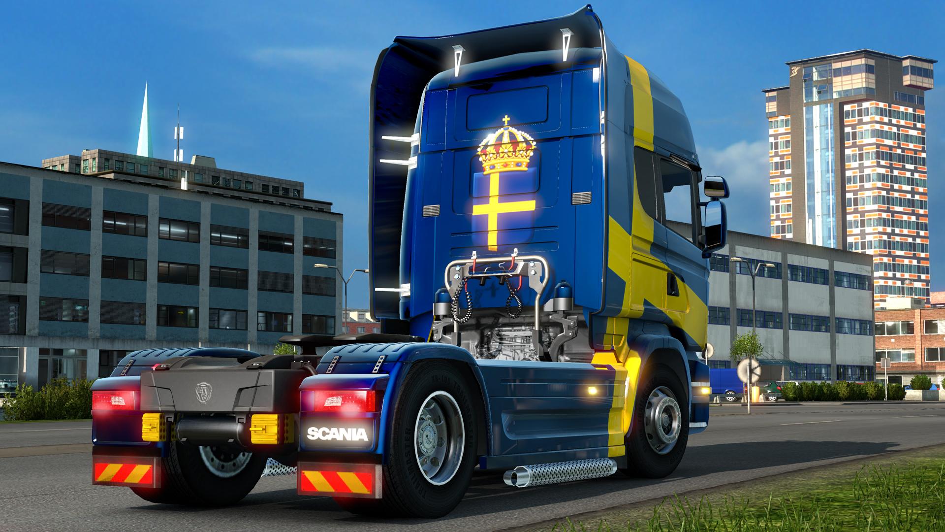 Euro Truck Simulator 2 - Swedish Paint Jobs Pack screenshot