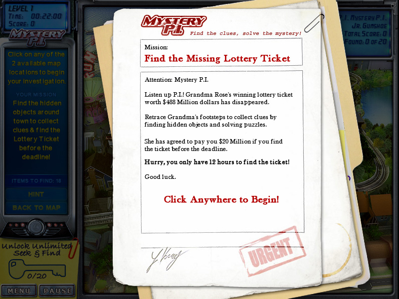 Mystery P.I. - The Lottery Ticket screenshot