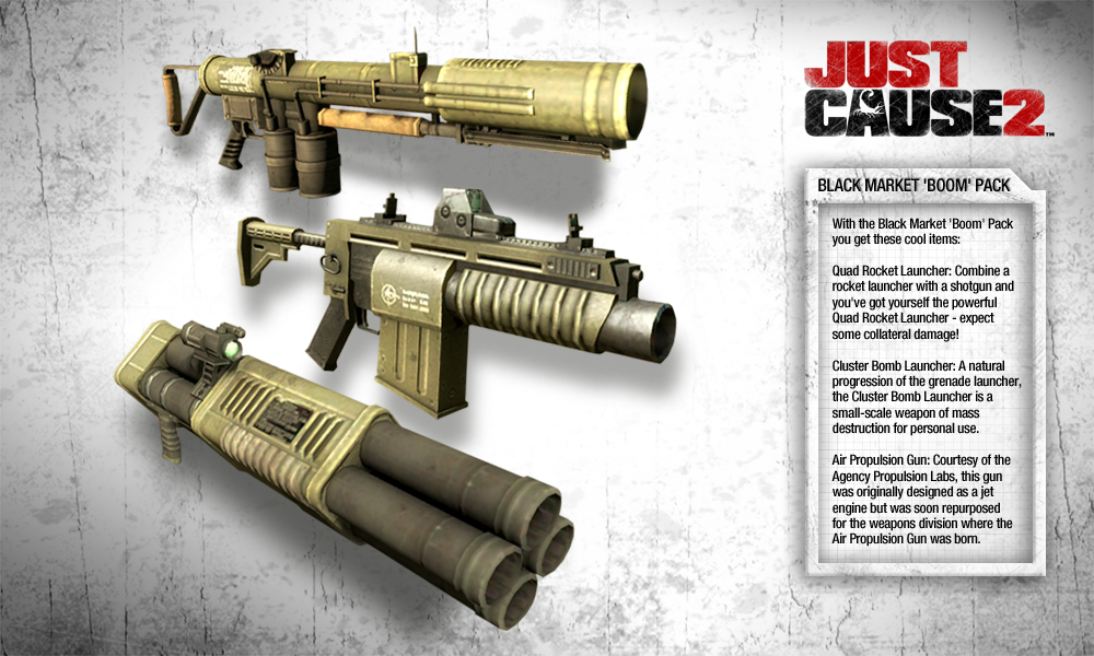 Just Cause 2 - Black Market Boom Pack DLC screenshot