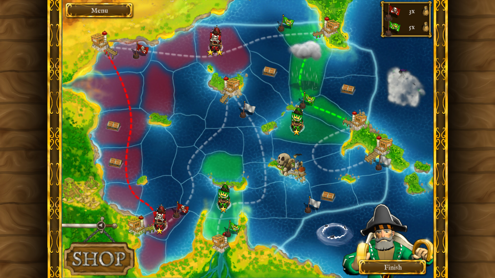 Pirates vs Corsairs: Davy Jones's Gold screenshot