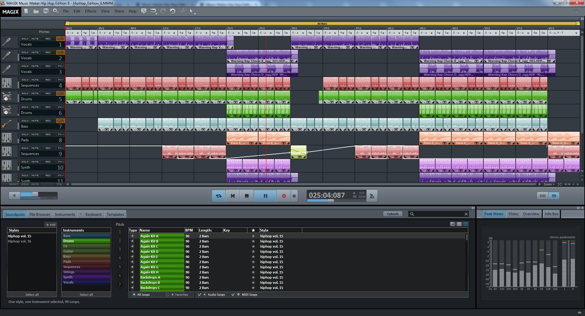 MAGIX Music Maker Hip Hop Edition 6 screenshot