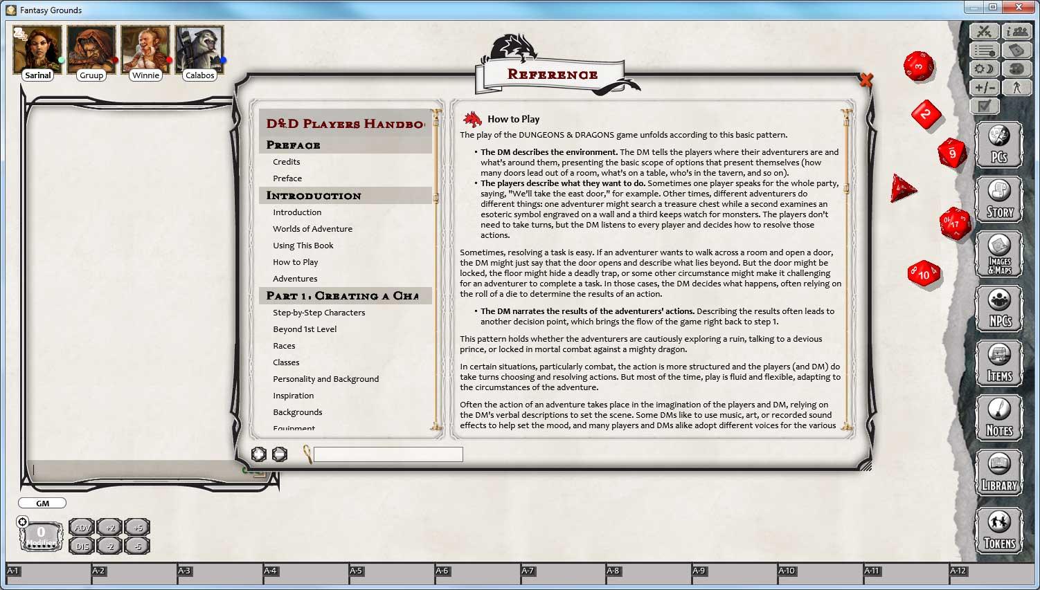 Fantasy Grounds - D&D Player's Handbook screenshot