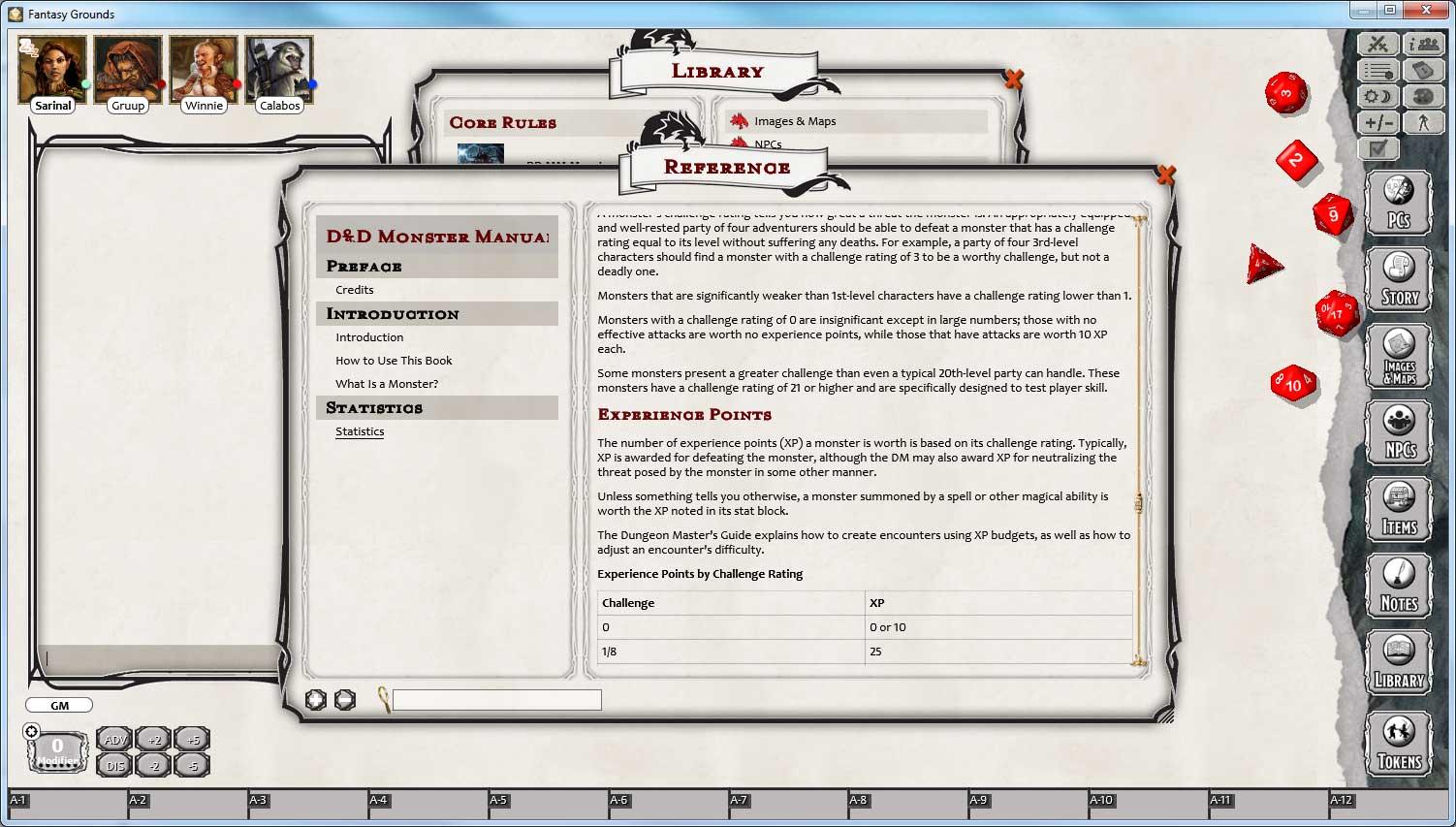Fantasy Grounds - D&D Monster Manual screenshot