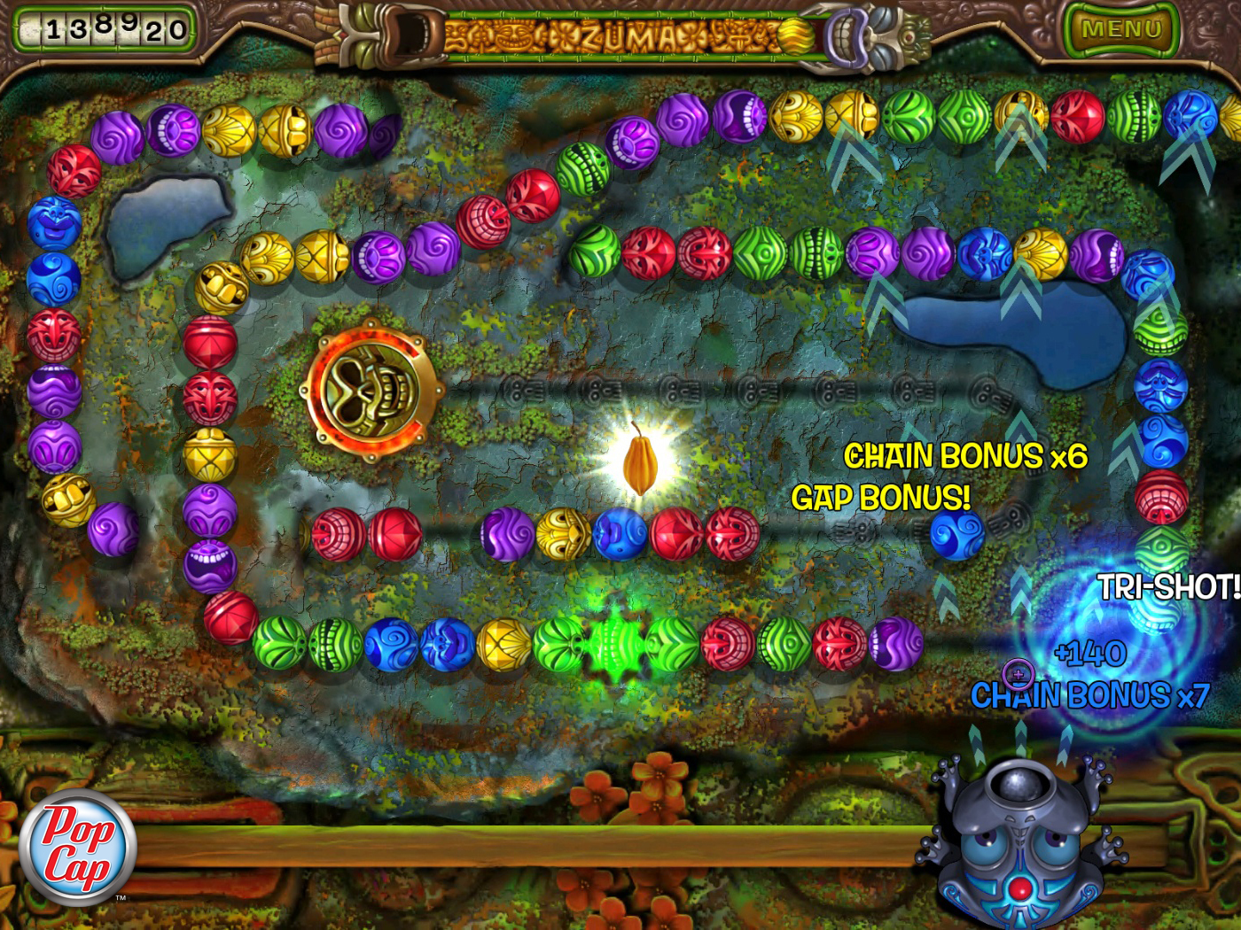 zuma revenge play online full screen