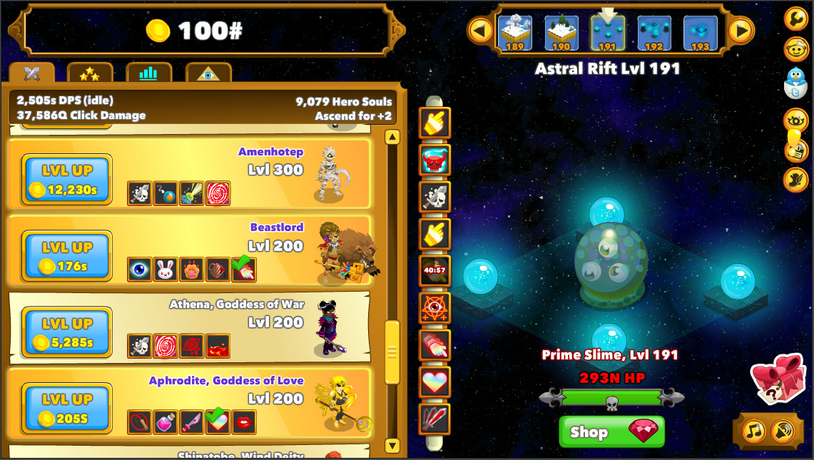 Clicker Heroes screenshot