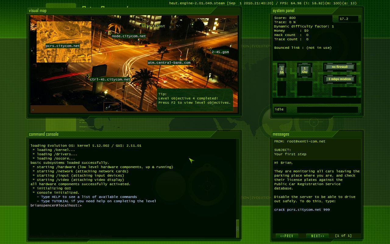 Hacker Evolution Source Code screenshot