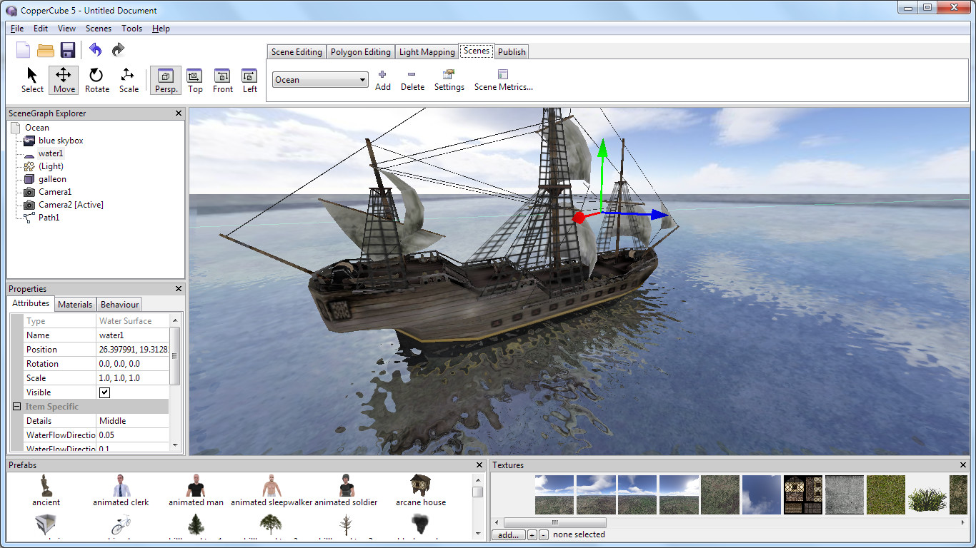 CopperCube 5 Game Engine screenshot