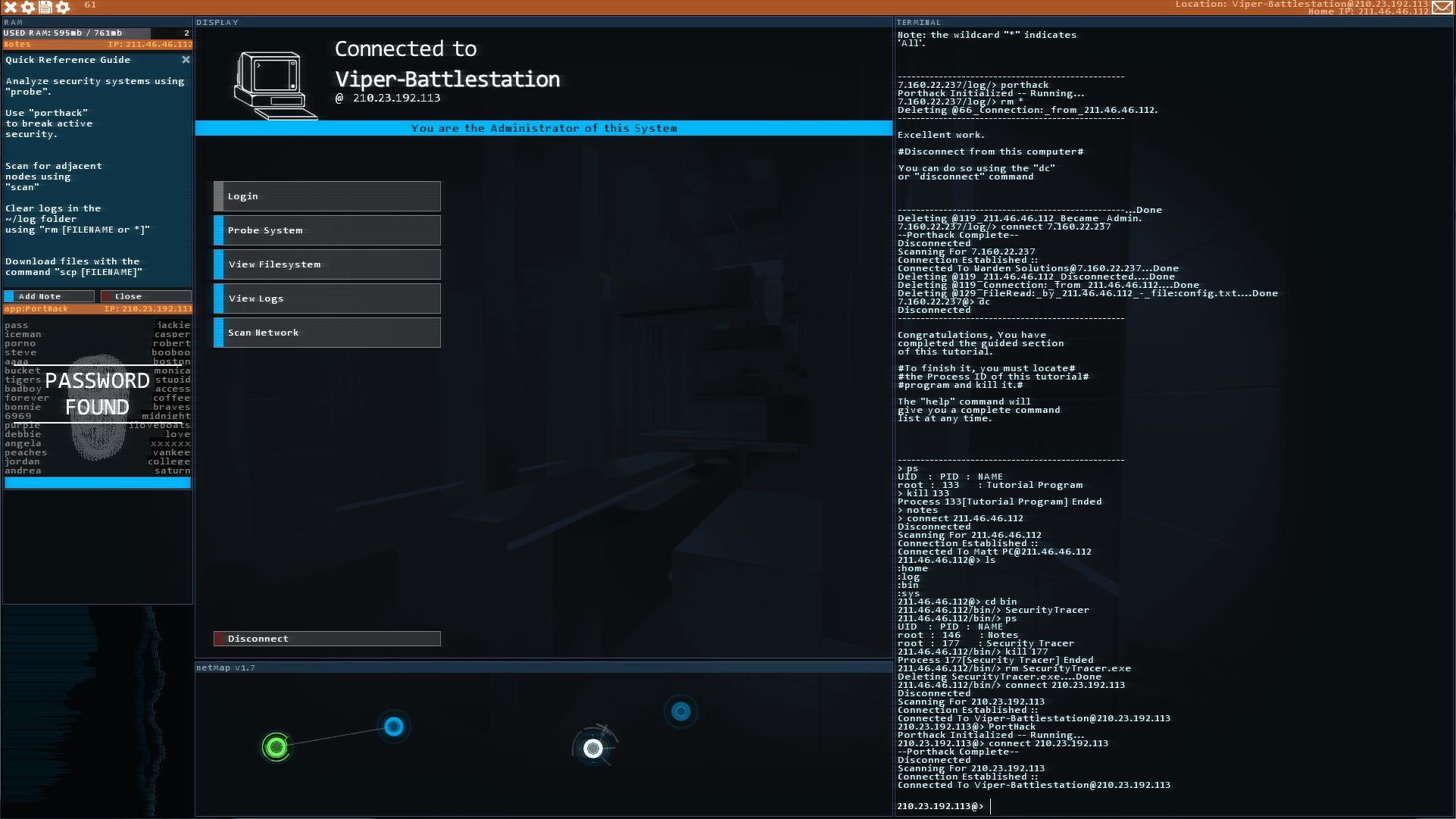 Hacknet screenshot