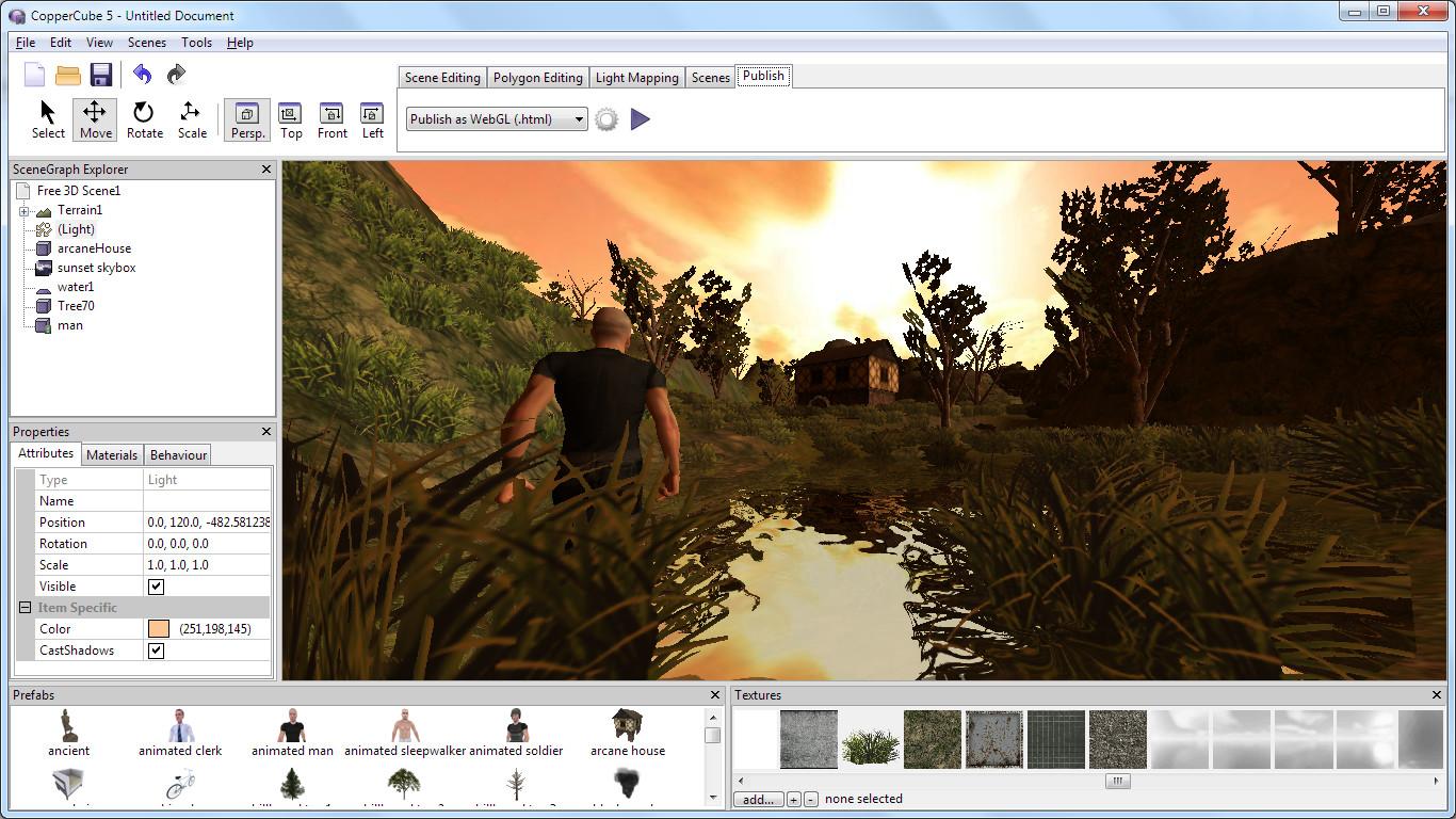 CopperCube 5 - Professional Edition screenshot