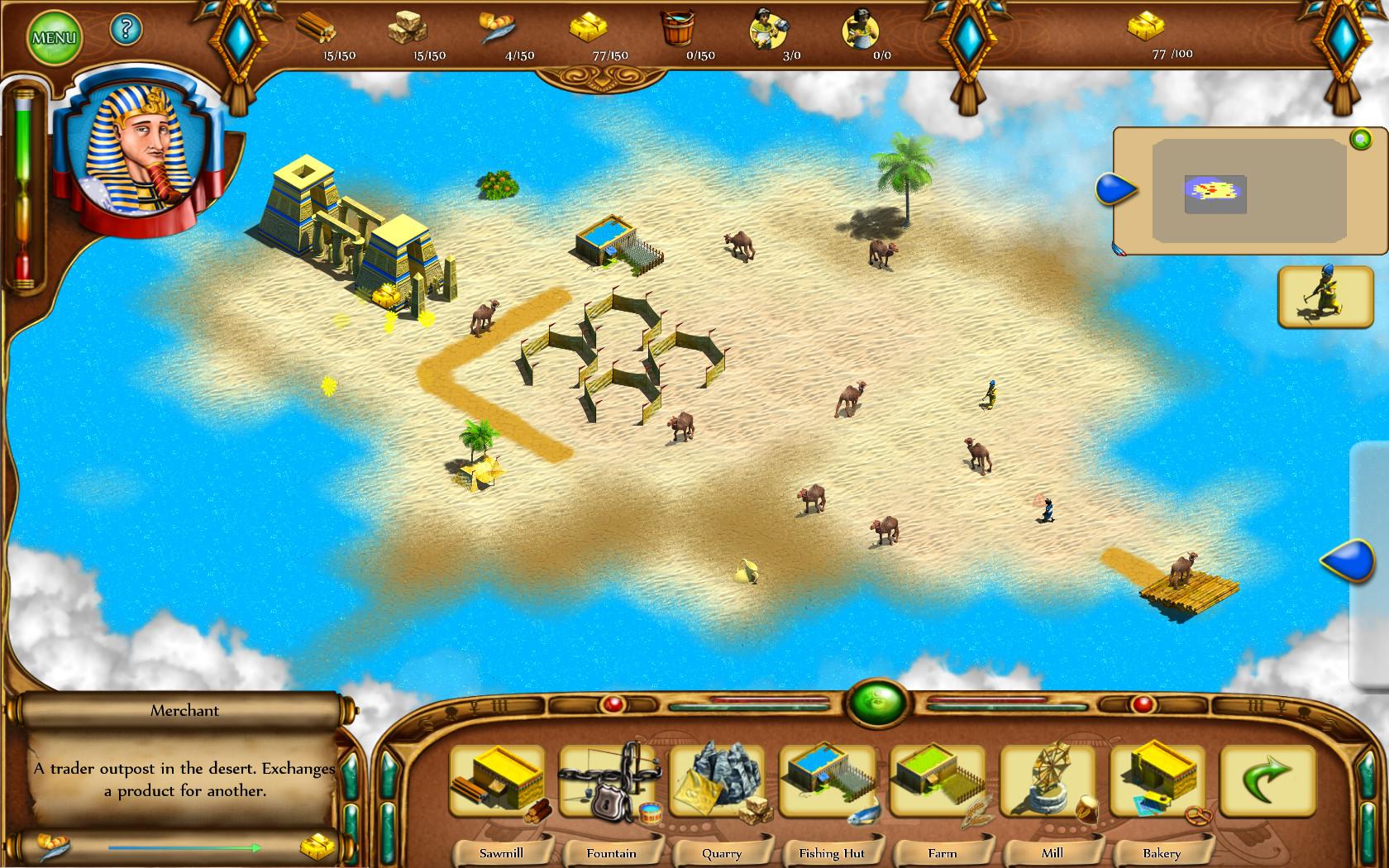 Egyptian Settlement Gold screenshot