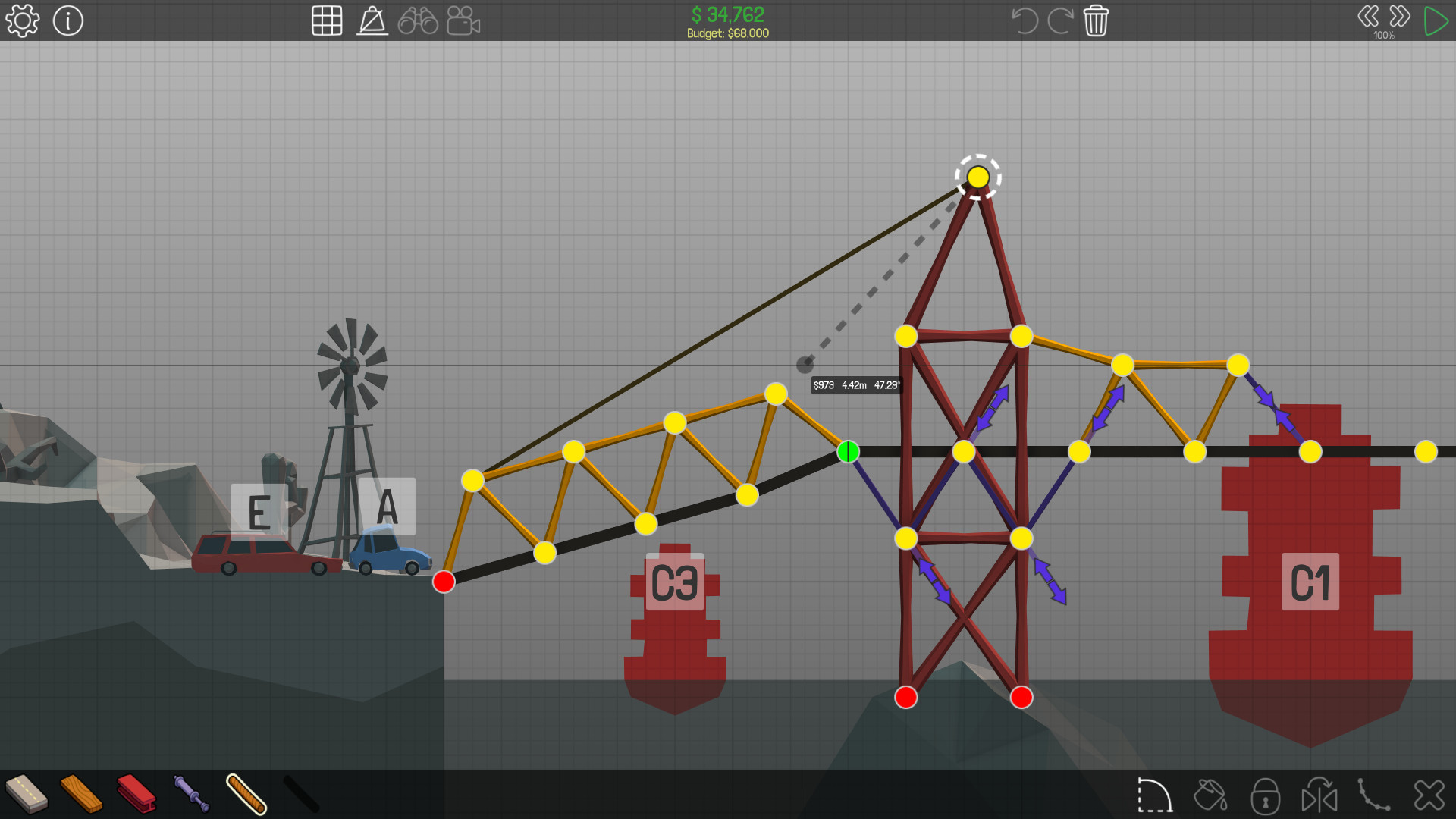 Poly Bridge Screenshot 2