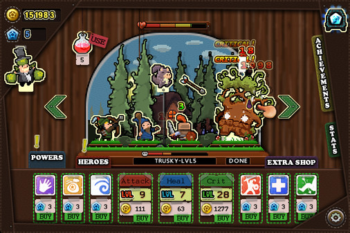 Screenshots of Tap Heroes PC Game
