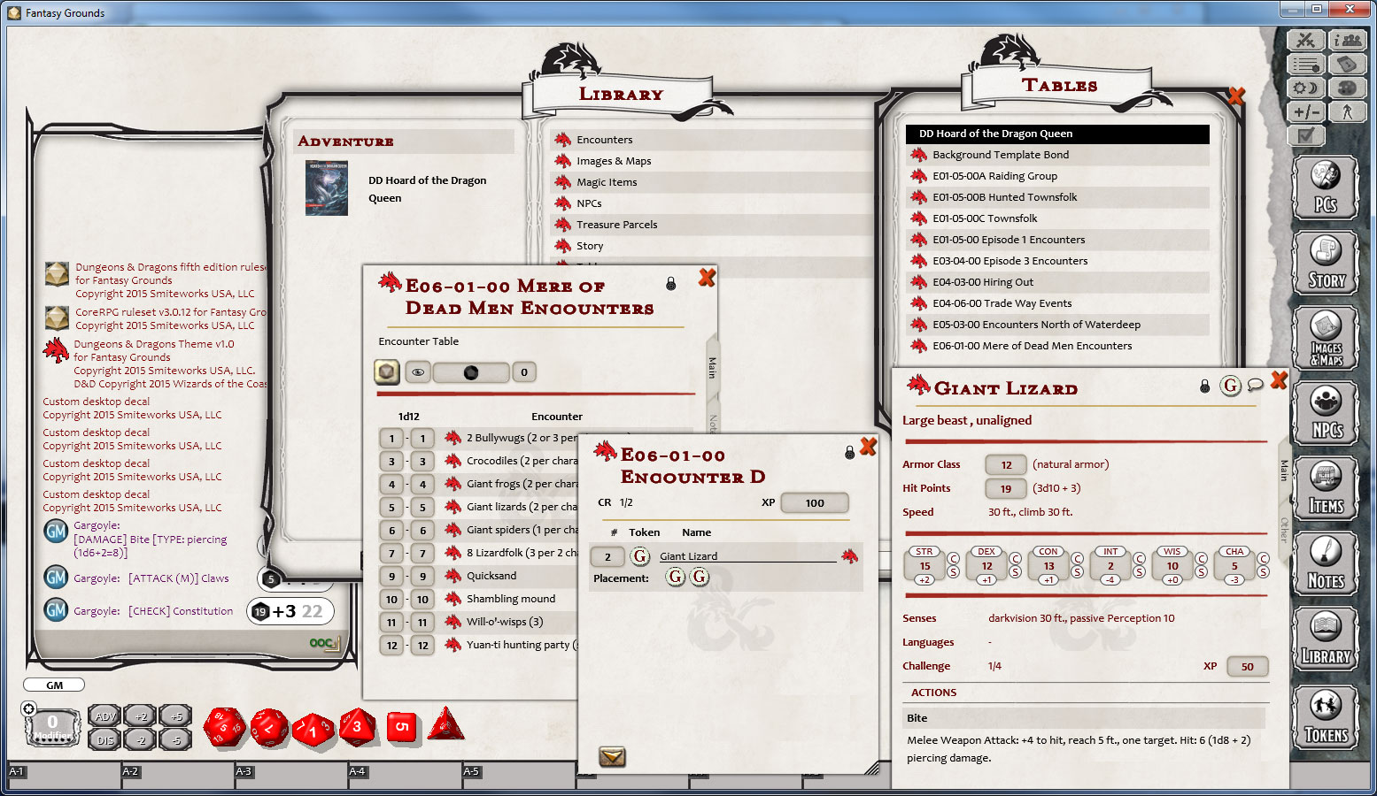 Fantasy Grounds - D&D Hoard of the Dragon Queen screenshot