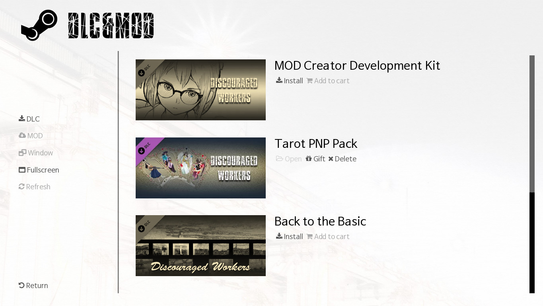 Discouraged Workers - Tarot PNP Pack screenshot