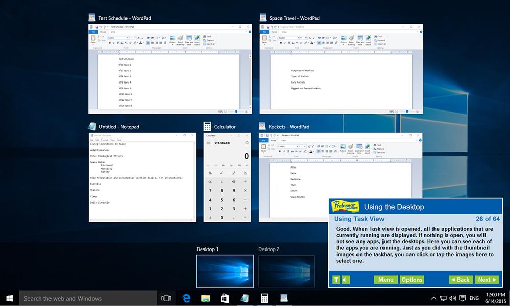 Professor Teaches Windows 10 screenshot