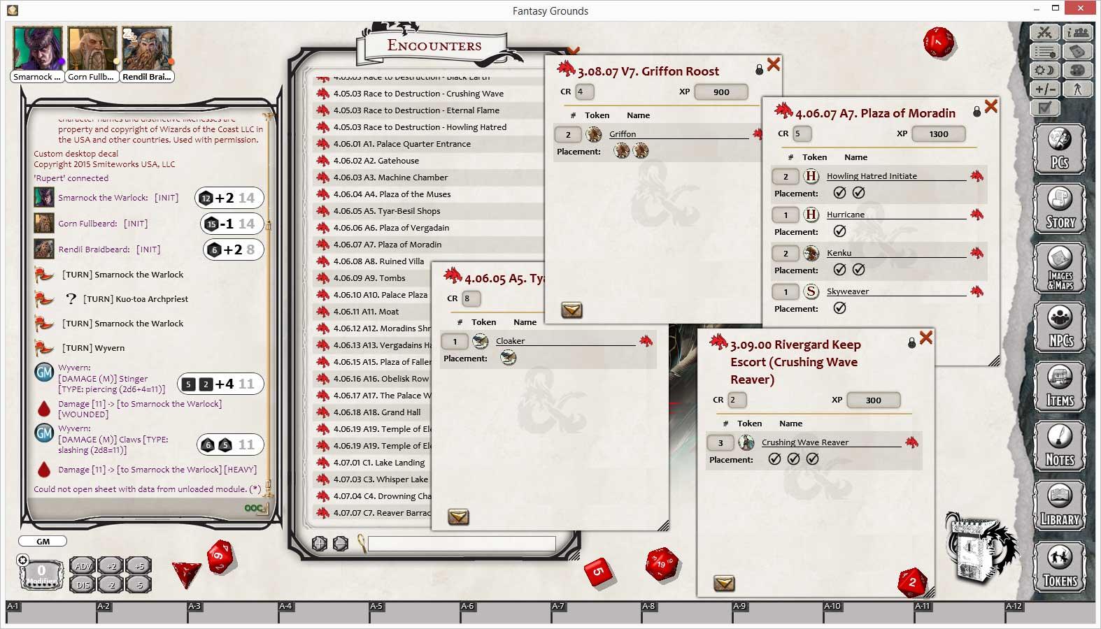 Fantasy Grounds - D&D Princes of the Apocalypse screenshot