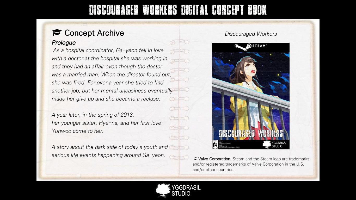 Discouraged Workers - Digital Concept Book screenshot