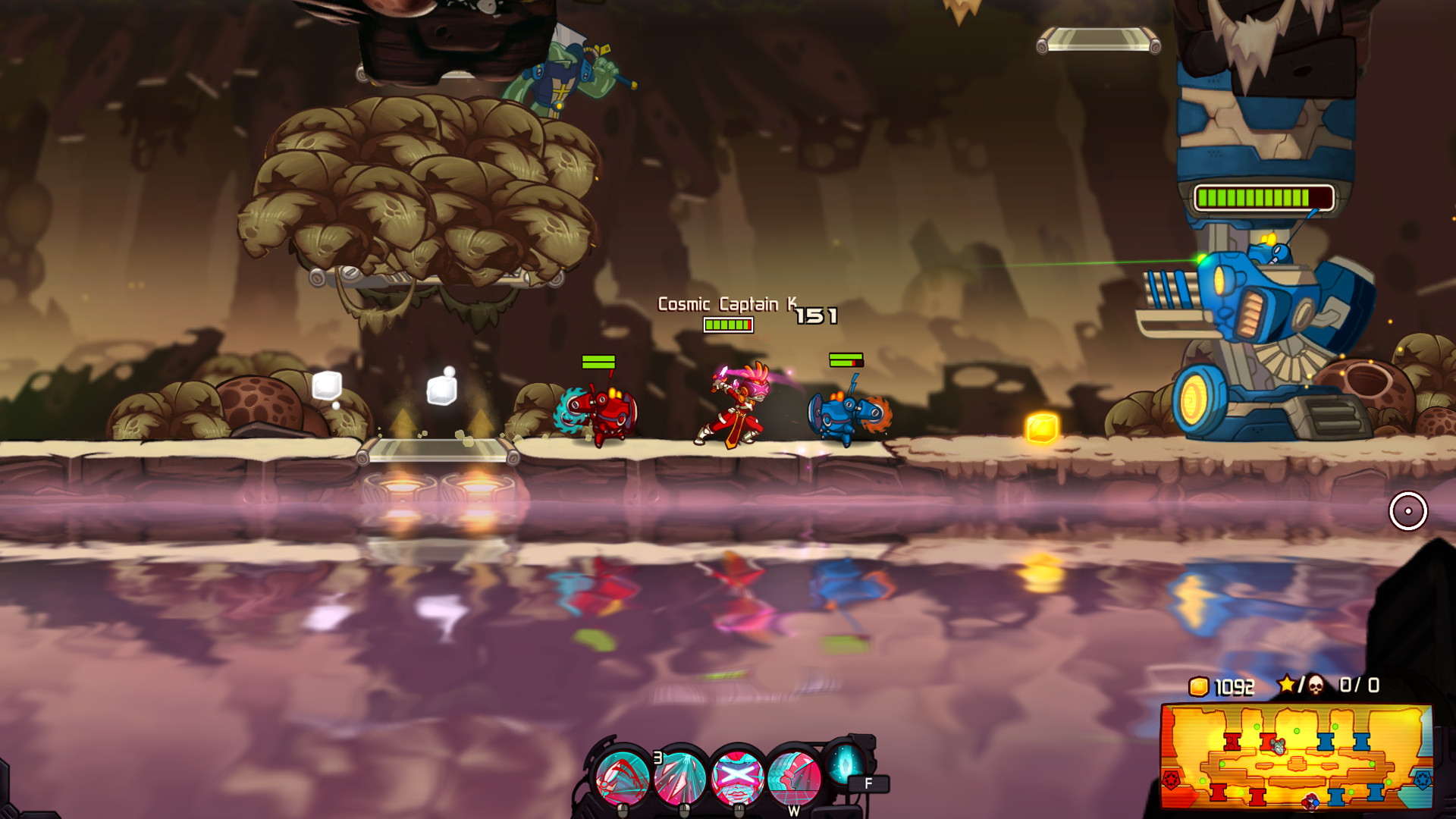 Awesomenauts - Cosmic Captain Ksenia Skin screenshot