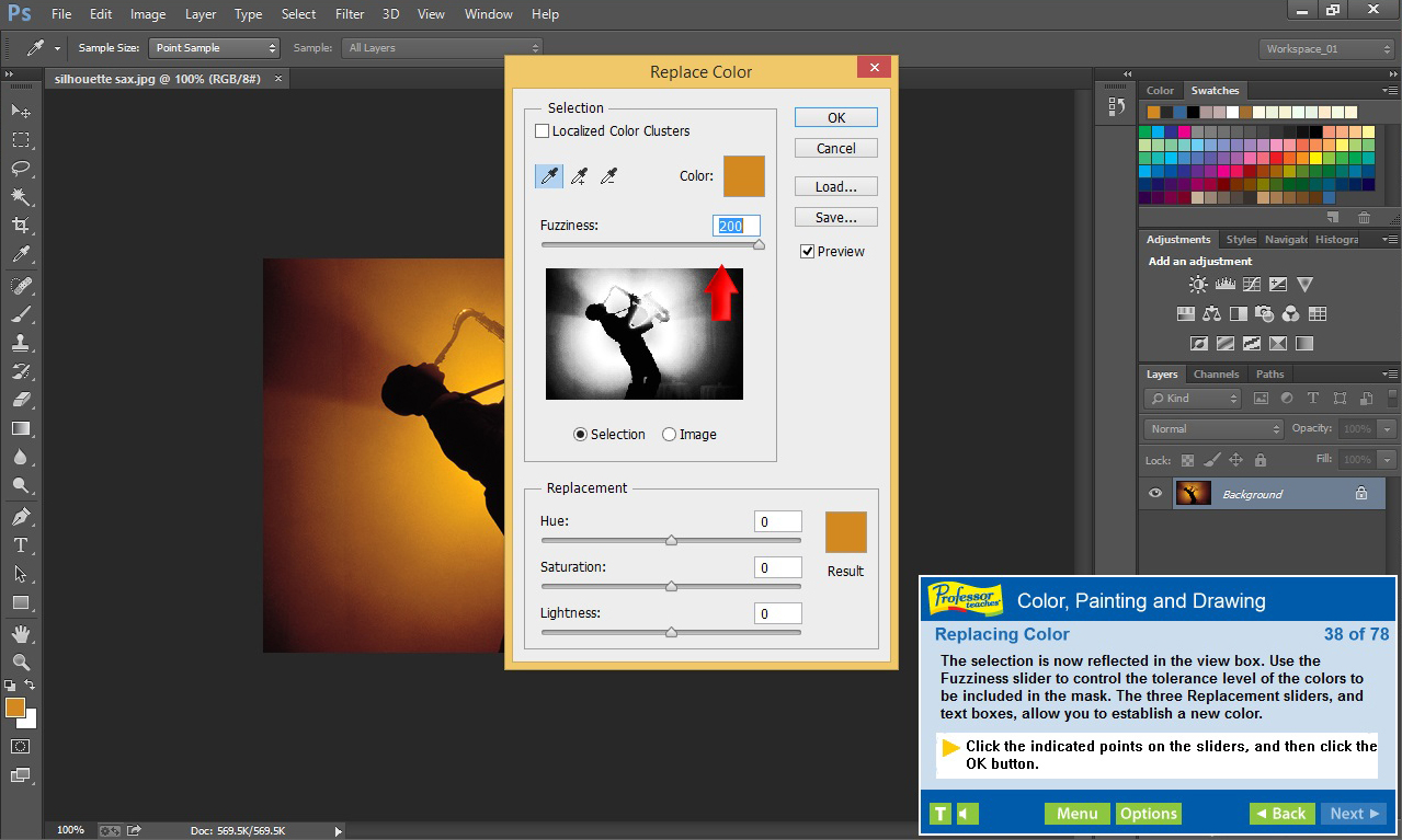 Professor Teaches Photoshop Creative Cloud screenshot