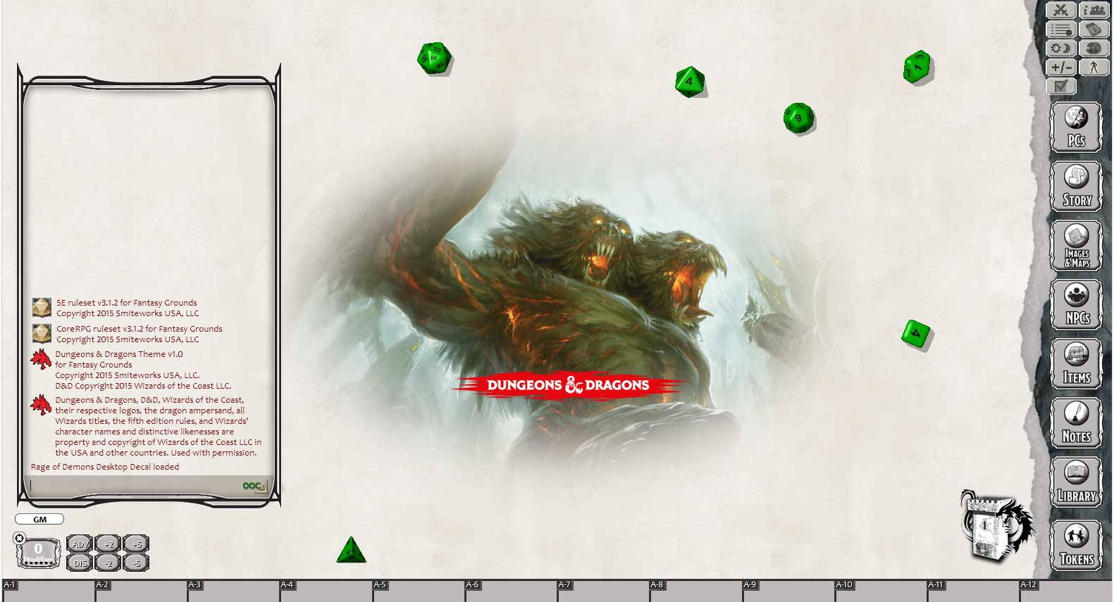Fantasy Grounds - D&D Rage of Demons: Out of the Abyss screenshot