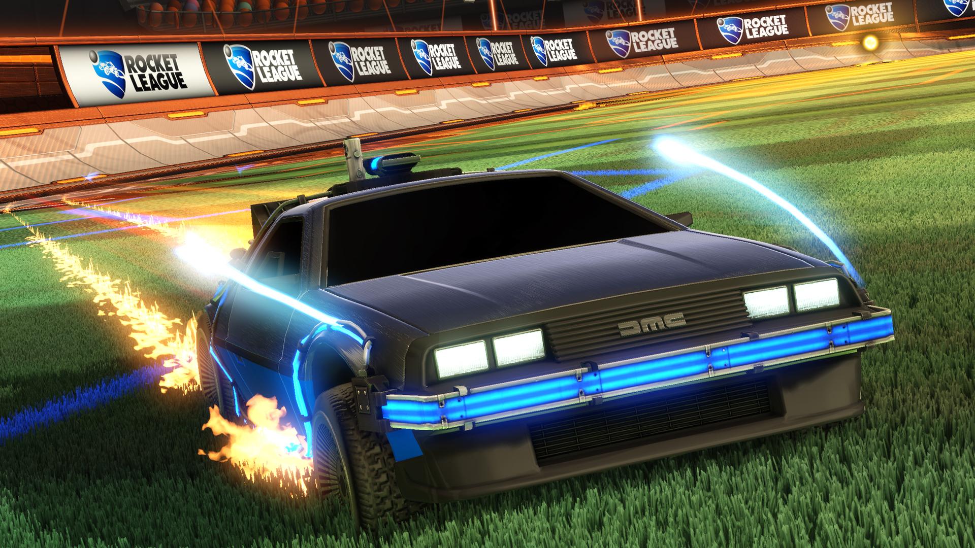 Rocket League - Back to the Future Car Pack screenshot