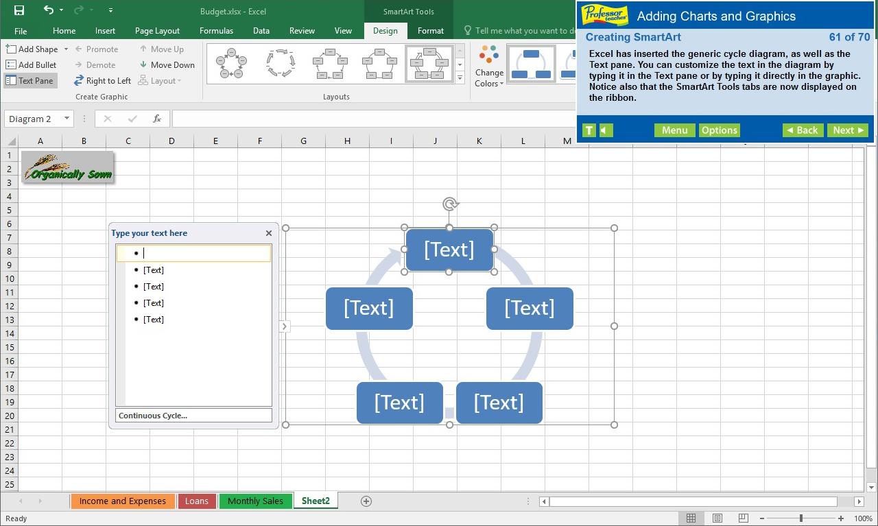 Professor Teaches Excel 2016 screenshot