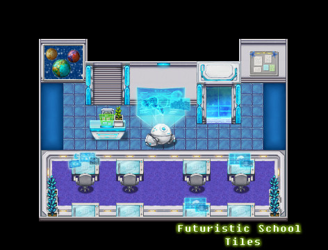 RPG Maker VX Ace - Futuristic School Tiles screenshot