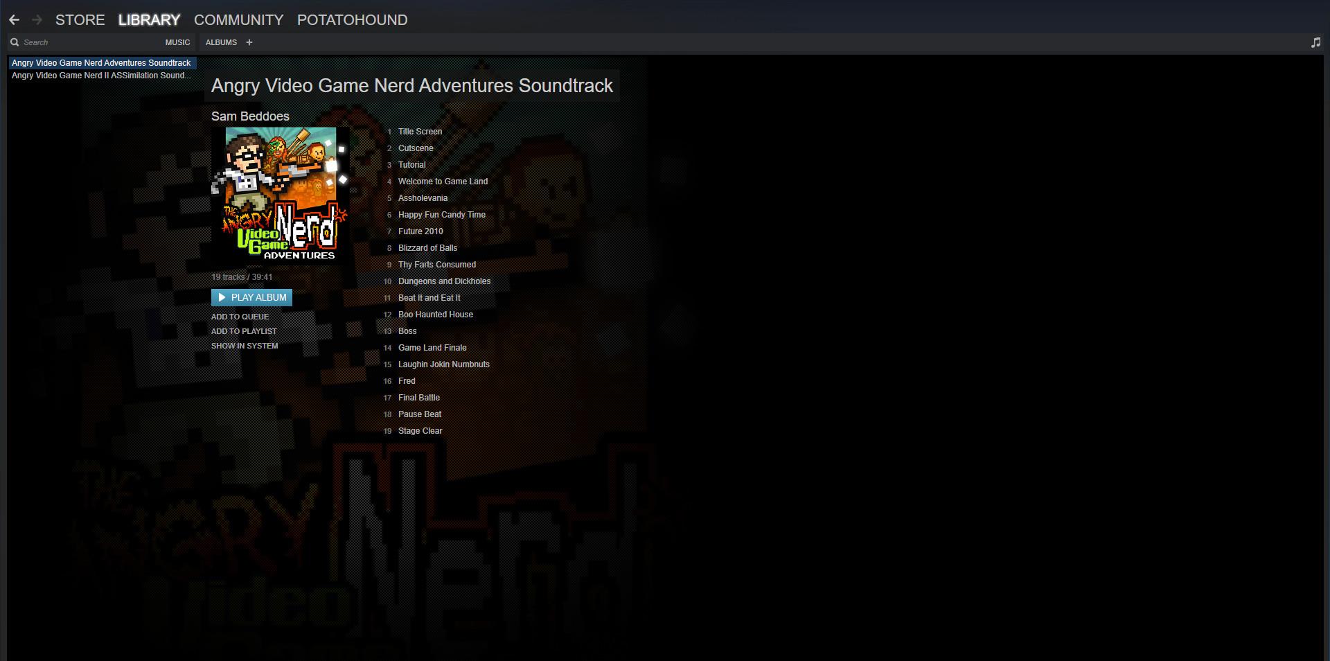 Angry Video Game Nerd Adventures - Soundtrack screenshot