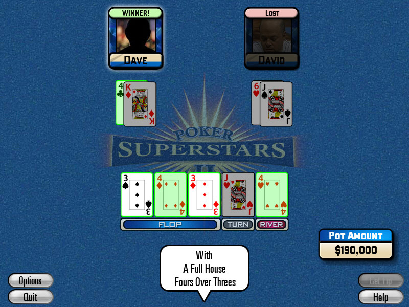 Poker Superstars II screenshot