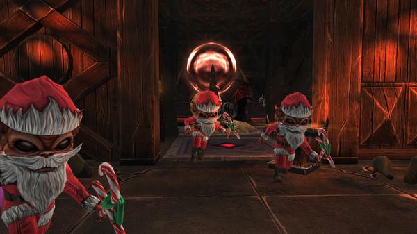 скриншот War for the Overworld - Santa Worker Skin 2