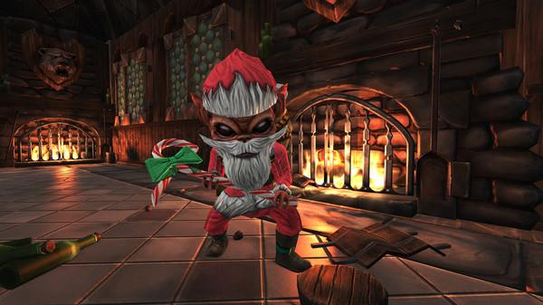 скриншот War for the Overworld - Santa Worker Skin 0