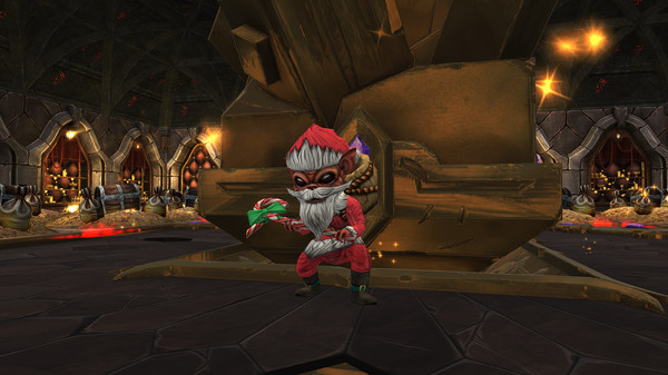 скриншот War for the Overworld - Santa Worker Skin 1