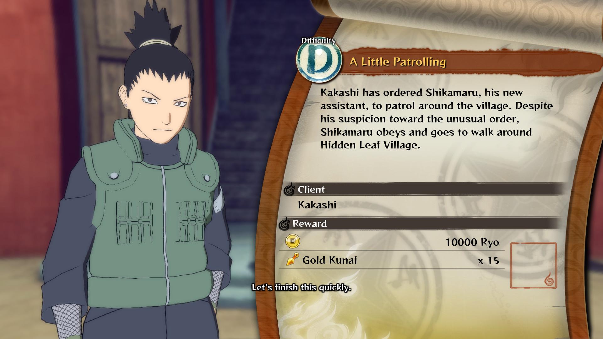 NARUTO SHIPPUDEN: Ultimate Ninja STORM 4 - Shikamaru's Tale Extra Scenario Pack screenshot