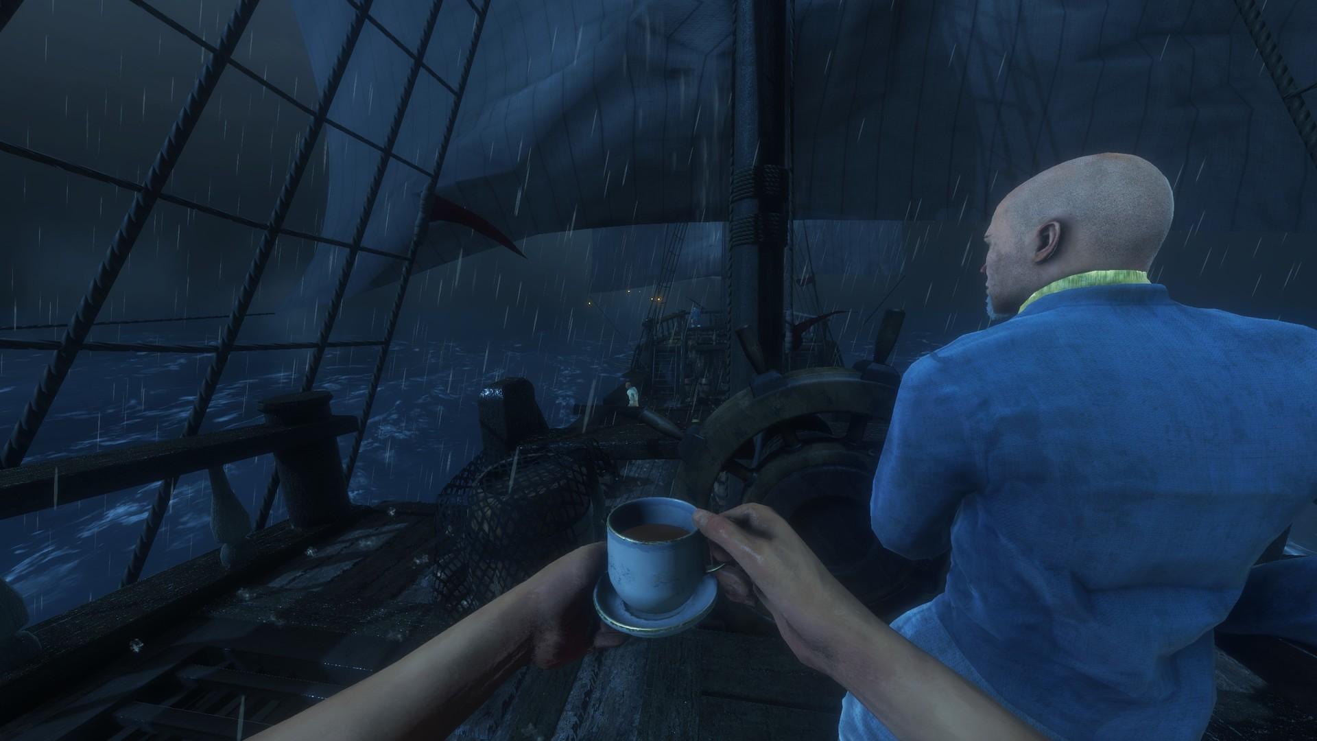 Drink tea in Blackwake to regain health